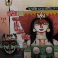 Durga-II Painting By Arun Kumar Samadder