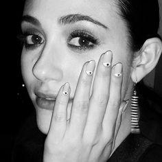 Emmy Rossum's evil eye nail art