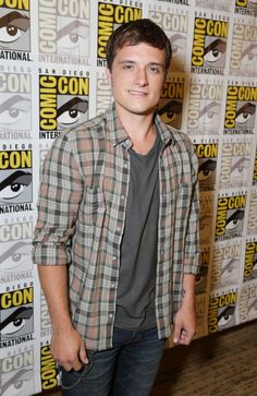 Josh Hutcherson in the press line, Comic-Con, 2013.