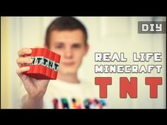 How to make a Real Life Minecraft TNT (DIY)