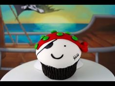 Cute (and tough) pirate cupcakes - perfect for pirate parties!   This tutorial and more available for FREE on our YouTube channel MyCupcakeAddiction