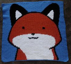 The StupidFox Crochet Baby Blanket is inspired by a super cute web comic. Crochet this picture afghan by following this free crochet chart pattern