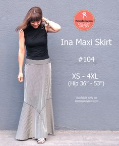 Ina Maxi Skirt - A PatternReview exclusive pattern.