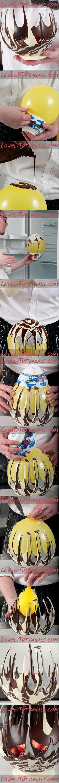 DIY Fancy Chocolate Bowl
