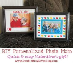 Cute and Easy Personalized Photo Mats!