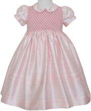 Flower girls pink silk dress size 2T  http://www.carouselwear.com/Flower-girls-pink-silk-dress.html