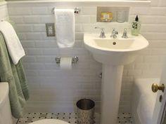 Tile niche over sink