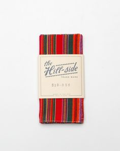 Selvedge hand-woven ikat stripe pocket square from The Hill-Side.