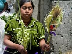 Palm Sunday art in Mexico
