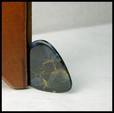 Designer Guitar Pick Made From Blue Pietersite by GemsoftheNorthwest