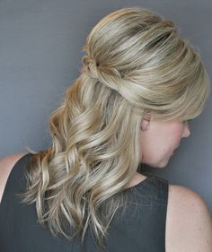 Super-easy hairstyle created for Real Simple by The Small Things blogger Kate Bryan. So simple, but prettier than just pulling your hair back. Click through for the how-tos.