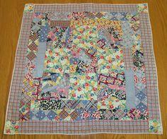 "Doll Bed Quilt Vintage Cotton Feedbag Fabric 27"" Square C 1940 Documentation   eBay"