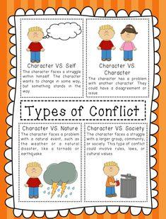 Types of conflict worksheet high school