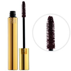 Yves Saint Laurent MASCARA VOLUME EFFET FAUX CILS in Burgundy. It's been a long time since I've tried coloured mascara, but I think this burgundy one could be amazing.