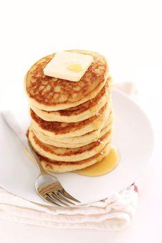 {Fluffy gluten free pancakes.}