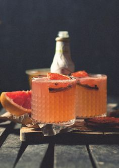 Blushing Bourbon cocktails
