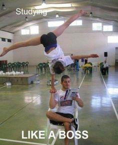 stunting cheer lol I'm impressed!