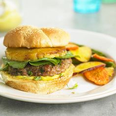 Grilled Ham & Pineapple Burgers
