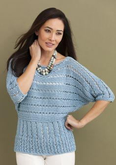 Georgina Dolman Pullover in ENYA http://tahkistacycharles.com/t/pattern_single?products_id=2211