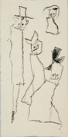 Lyonel Feininger, Untitled [Ghosties], 20th century, Harvard Art Museums/Busch-Reisinger Museum.