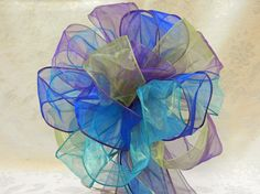 Royal blue Lime greenPurple and Teal Wedding/ by creativelycarole, $100.00