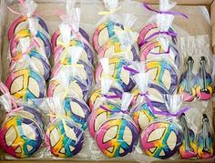 Peace sign cookies for favors- Kookie Kreatuions by Kim