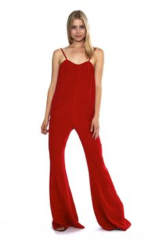 Stone Cold Fox - Jerry Jumpsuit in Red thestonecoldfox.com