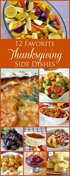 From cornbread stuffing or Duchess Potatoes to a new cranberry sauce twist, even a vegetarian onion gravy, here's my 12 favorite Thanksgiving side dishes.
