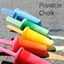 Ice chalk in popsicle molds so they can have something to hold on to! Great summer outdoor idea!