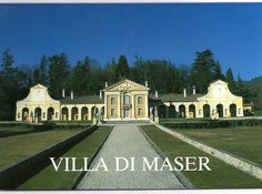 Villa di Maser, one of many Palladio estates in Treviso Province, Italy that is situated just under the town of Asolo