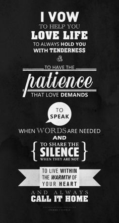 vows.. love this!