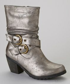 Love this color!! :: Pewter Cowgirl 10 Boot by Jacobies Footwear on #zulily