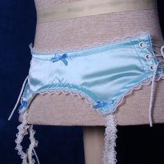 Pretty little baby blue garter belt. This is my original design. #handmade #lingerie #indie #garter #belt #etsy