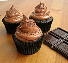 Triple Threat Chocolate Cupcakes