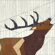 Roaring Deer Forest QAL PP pattern - via @Craftsy