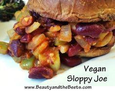 Vegetarian Sloppy Joe | Beauty and the Beets #MeatlessMonday