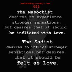 masochist - Sadist