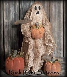 Primitive Halloween Ghost Make Do Doll