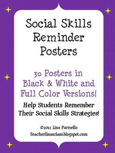 Social Skills Reminder Posters product from Teacher-Lisas-Shop on TeachersNotebook.com