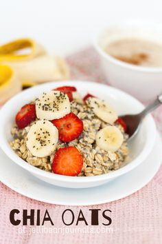 Make-Ahead Soaked Chia Oats- Easy breakfast that you prep in 2 minutes the night before. #breakfast #chia  Jellibeanjournals.com