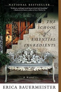 This book tells the story of  people who come together for  a cooking class and learn so much more.  Lovely descriptive prose. The  food can almost be tasted, as if taking her cooking classes your self. First novel  by Erica Baumeister