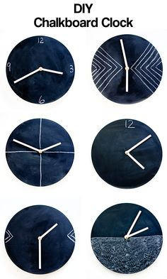 DIY chalkboard clock tutorial