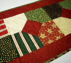 Christmas Table Runner Christmas Punch Holiday by atthebrightspot, $48.00