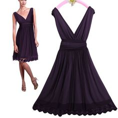 Amazon.com: Ever Pretty Sexy Double V-neck Ruched Cocktail Dress 00279: Clothing