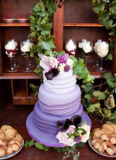 Fabulous Purple Wedding Cake