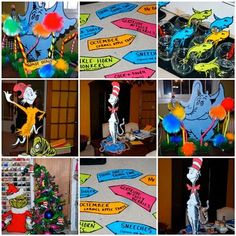 Dr. Seuss party ideas -- decorations