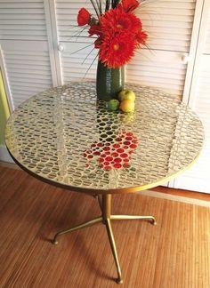 mirror mosaic table