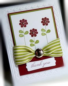 Me, My Stamps and I: Apple Blossoms, pretty thankyou card!