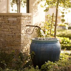 Landscape Fountain Set Into Retaining Wall Design, Pictures, Remodel, Decor and Ideas - page 2