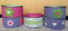 Angelas Crafts: Decorated tins - Latas decoradas